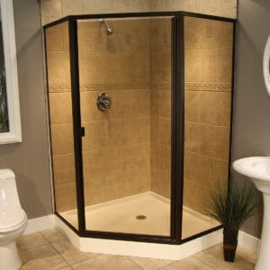 Thin Glass Pattern Shower Enclosures - Bronze, shower enclosure example