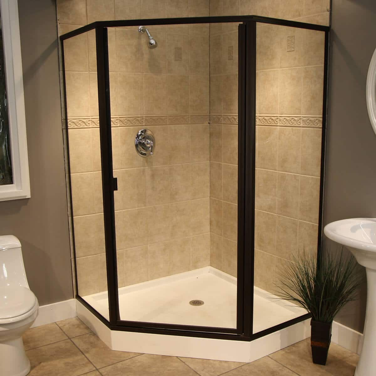 Thin Glass Pattern Shower Enclosures - Clear, shower enclosure ...