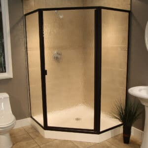 Thin Glass Pattern Shower Enclosures - Glacier, shower enclosure example