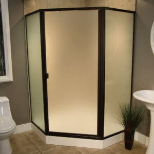 Thin Glass Pattern Shower Enclosures - Satin, shower enclosure example