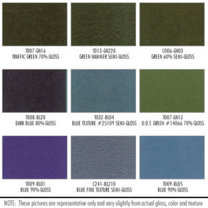 Shower Enclosure Powder Coating Finish Options: Various Gloss Colors