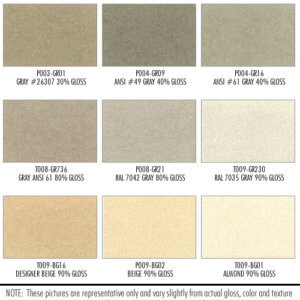 Shower Enclosure Powder Coating Finish Options: Beige, Gray, Brown, Yellow