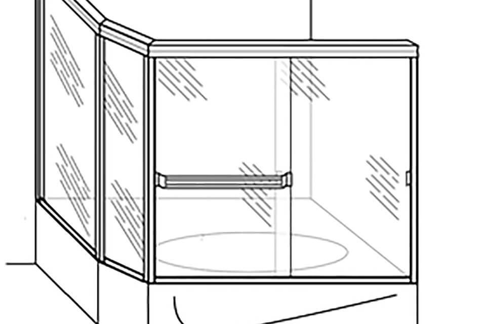 Sketched Example of Corner Neo-Angle Shower