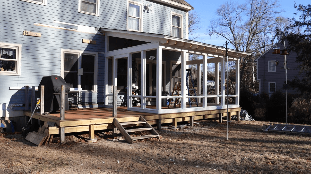 New Porch Installation Of Storm Windows 1 Pioneer Gl