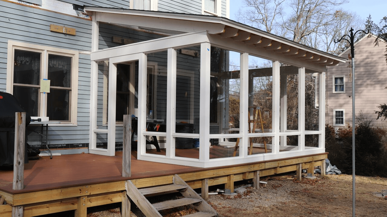 New Porch Installation Of Storm Windows 5 Pioneer Gl